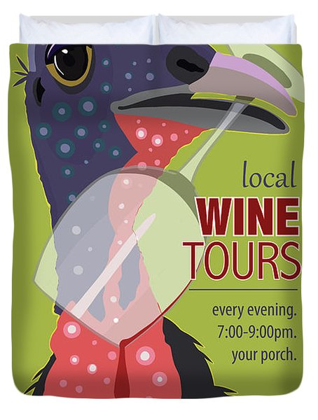 Local Wine Tours Duvet Cover
