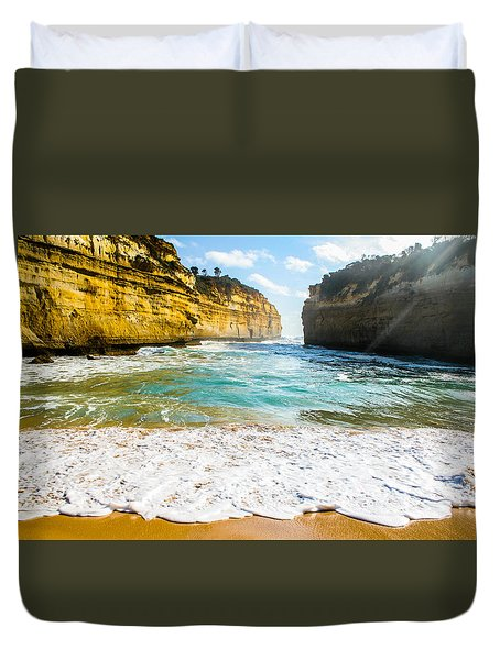 Loch Ard Gorge Duvet Cover by Max Serjeant