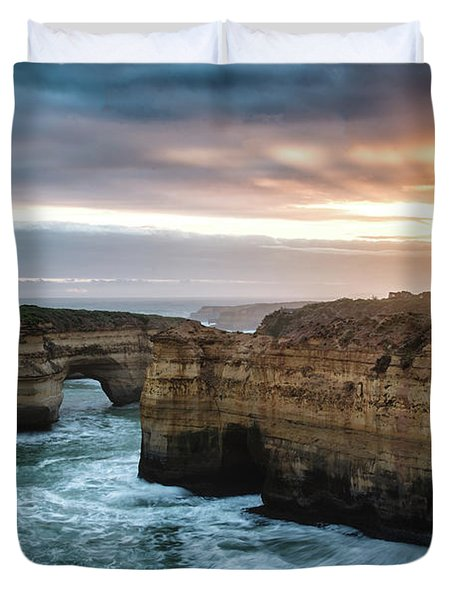 Loch Ard Gorge Sunset Duvet Cover