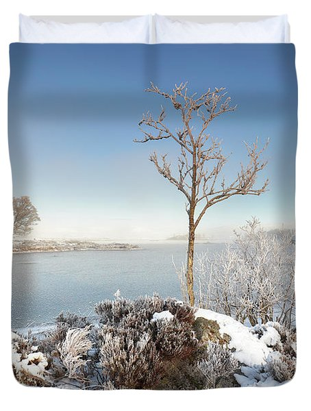 Duvet Cover featuring the photograph Loch Ba Winter by Grant Glendinning