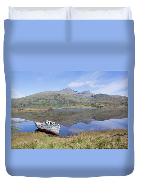 Loch Beg Reflections Duvet Cover
