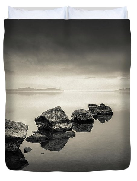 Loch Lomond Dawn Duvet Cover