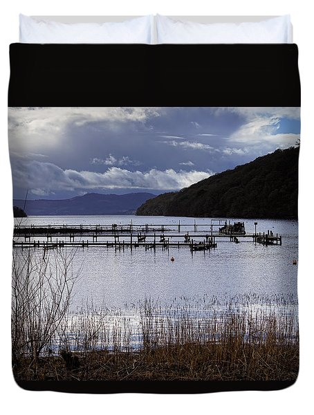 Duvet Cover featuring the photograph Loch Lomond by Jeremy Lavender Photography