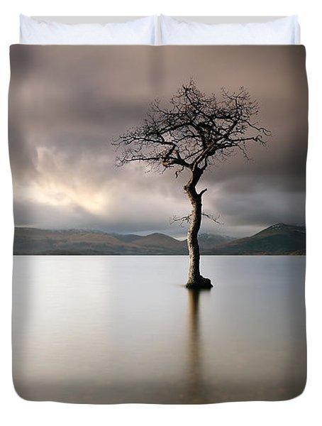 Loch Lomond Lone Tree Duvet Cover
