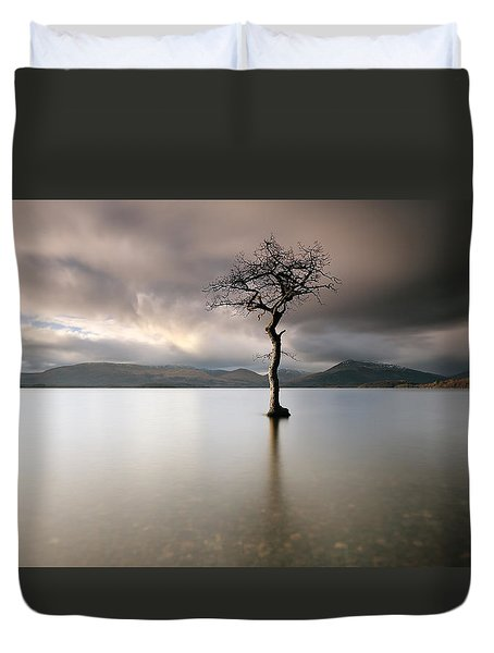 Loch Lomond Lone Tree Duvet Cover