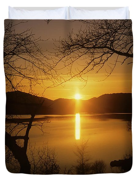 Loch Maree Sunset Duvet Cover