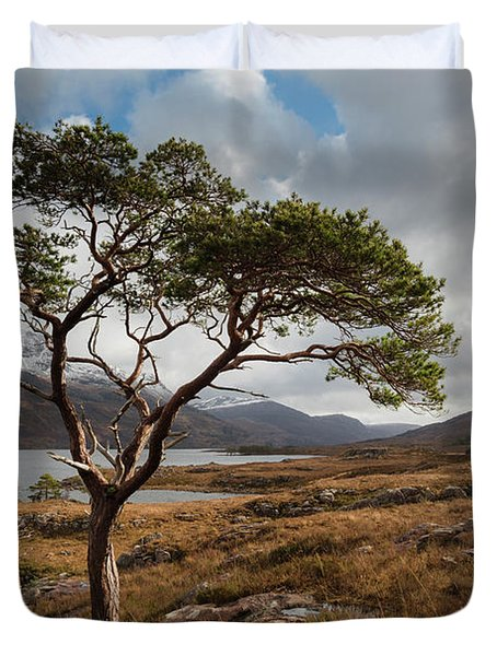Loch Maree Tree Duvet Cover