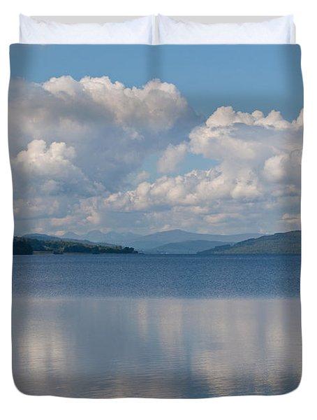 Loch Rannoch Clouds Duvet Cover by Chris Thaxter