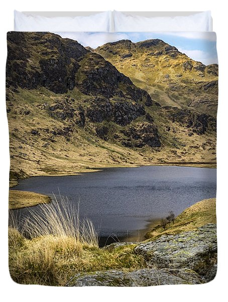 Loch Restil From Rest And Be Thankful Duvet Cover