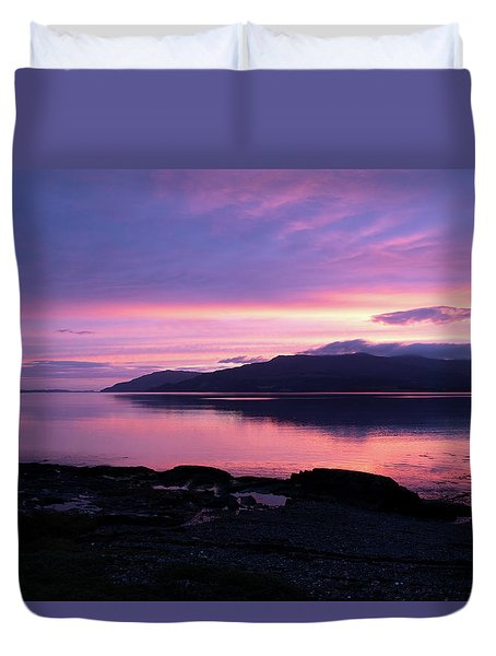 Loch Scridain Sunset Duvet Cover