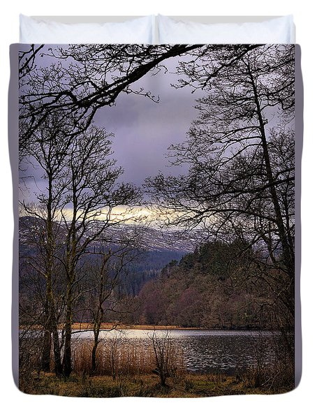 Duvet Cover featuring the photograph Loch Venachar by Jeremy Lavender Photography