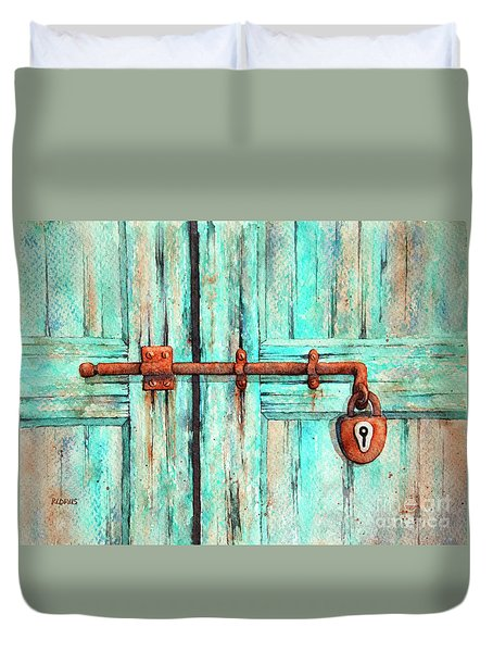 Lock And Key Duvet Cover