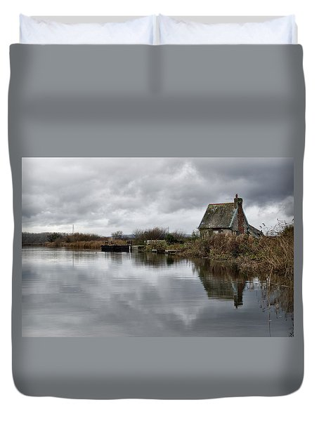Lock Keepers Cottage At Topsham Duvet Cover