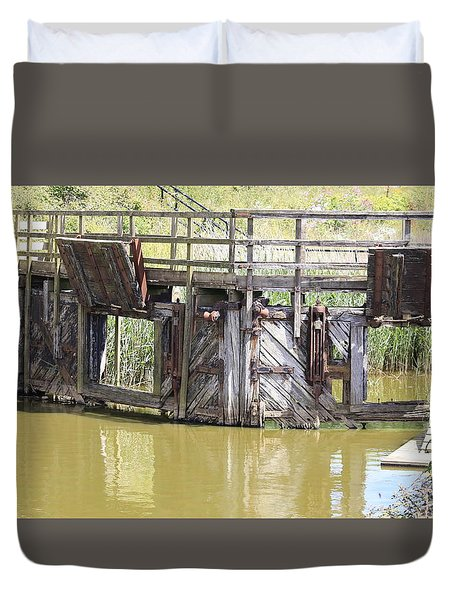 Lock Duvet Cover by Keith Sutton