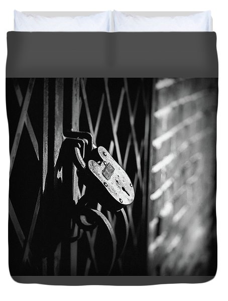 Duvet Cover featuring the photograph Locked Away by Doug Camara