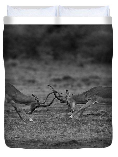 Locked Horns Duvet Cover by Ramabhadran Thirupattur