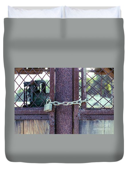 Locked Up Layers Duvet Cover