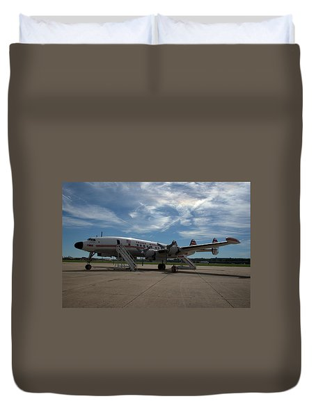 Lockheed Constellation Super G Duvet Cover