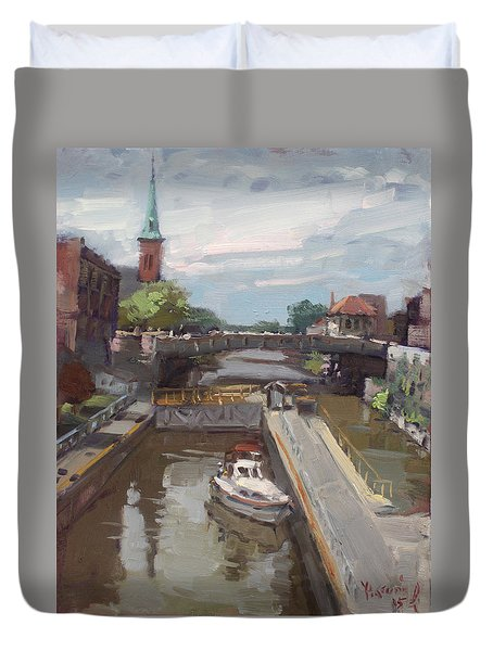 Lockport Locks Duvet Cover