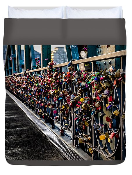 Locks Of Lock Bridge Duvet Cover