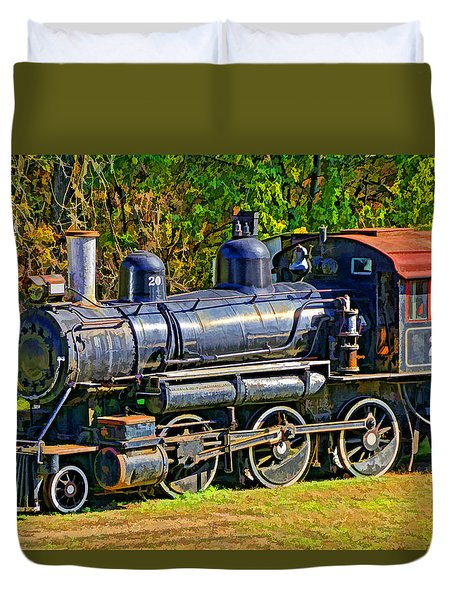 Locomotive 201 Duvet Cover by Dennis Cox WorldViews