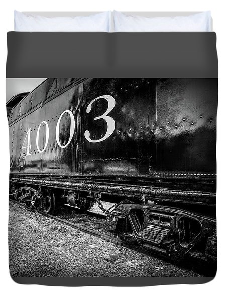 Locomotive Engine Duvet Cover