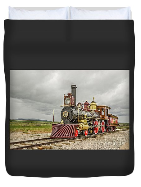Duvet Cover featuring the photograph Locomotive No. 119 by Sue Smith