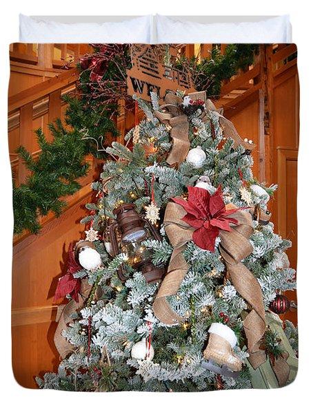 Lodge Lobby Tree Duvet Cover