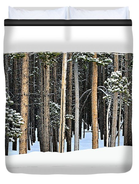 Lodge Pole Pine Duvet Cover