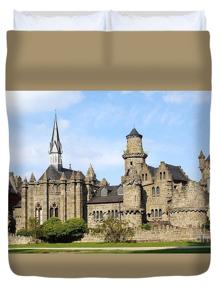 Loewenburg - Lionscastle Near Kassel, Germany Duvet Cover
