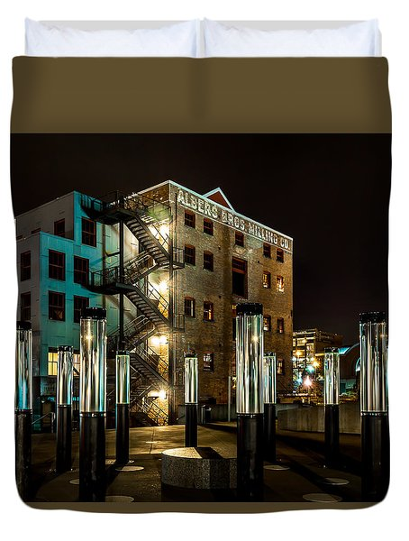 Lofts Overlooking Water Forest Duvet Cover