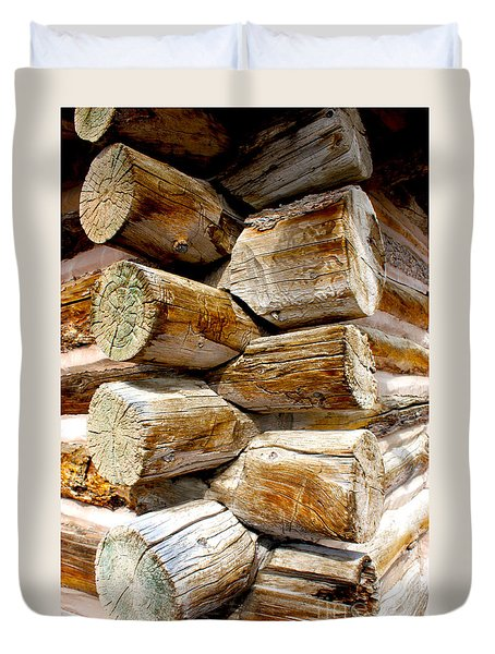 Log Cabin Corner Duvet Cover