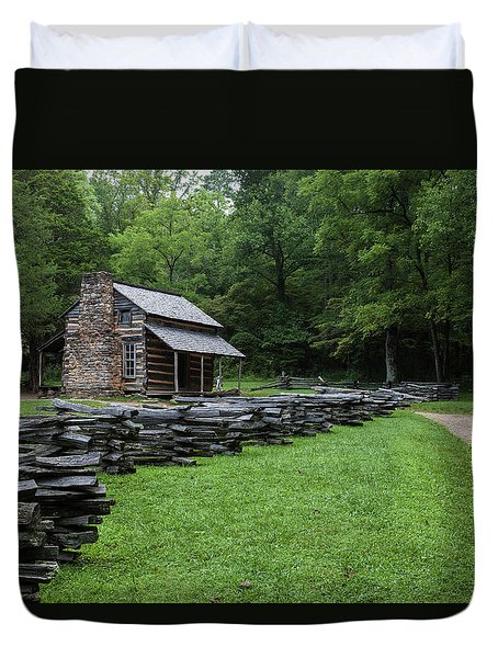 Log Cabin Duvet Cover by David Cote