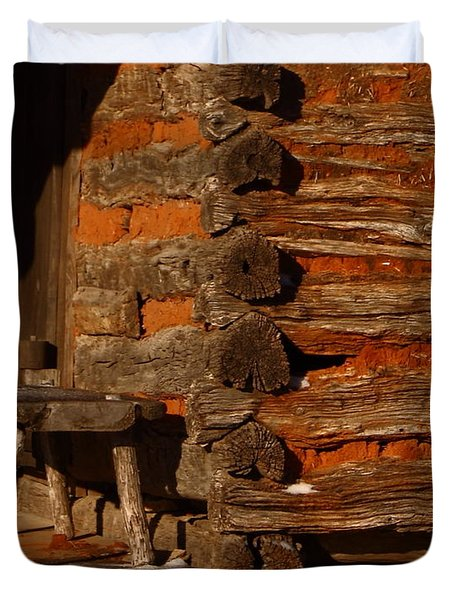 Log Cabin Duvet Cover by Robert Frederick