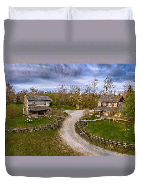 Log Cabins Duvet Cover