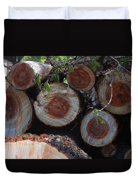 Log Ends Duvet Cover