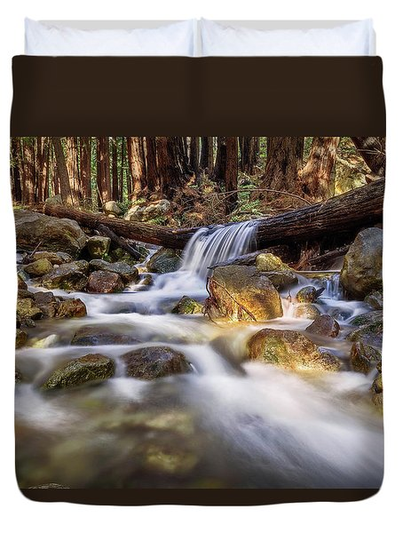Log Falls On Limekiln Creek Duvet Cover