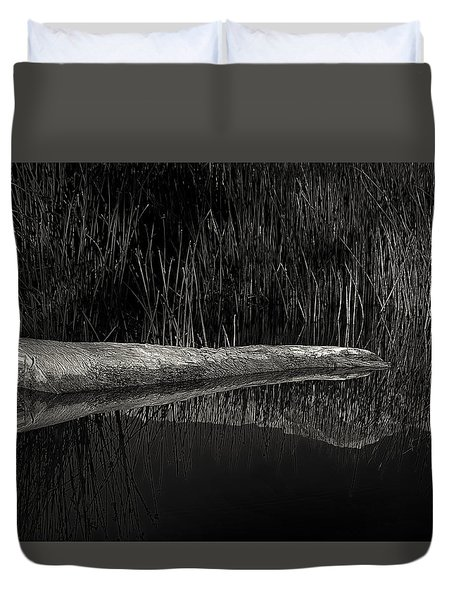Log In The Lake Duvet Cover