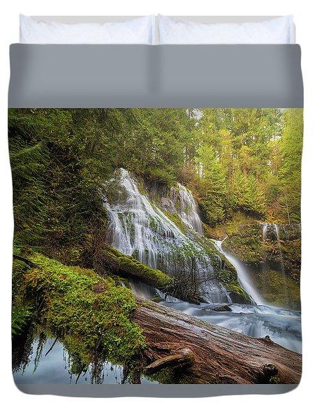 Log Jam By Panther Creek Falls Duvet Cover