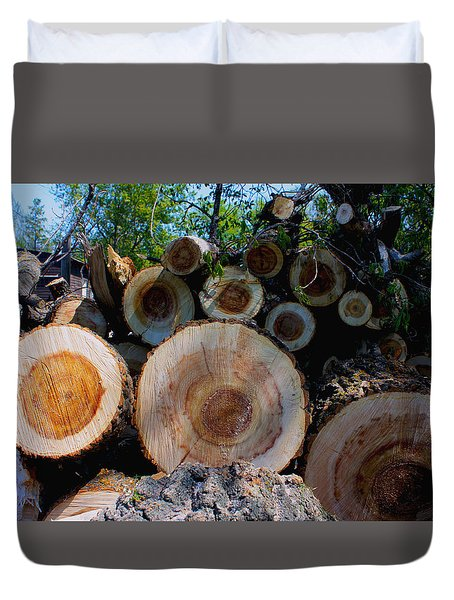 Log Pile Duvet Cover