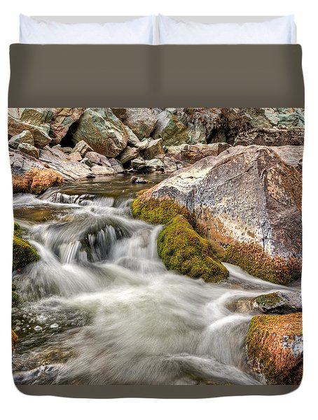 Logan Creek, Montana 2 Duvet Cover