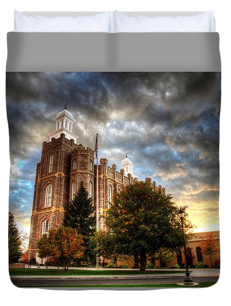 Logan Temple Cloud Backdrop Duvet Cover