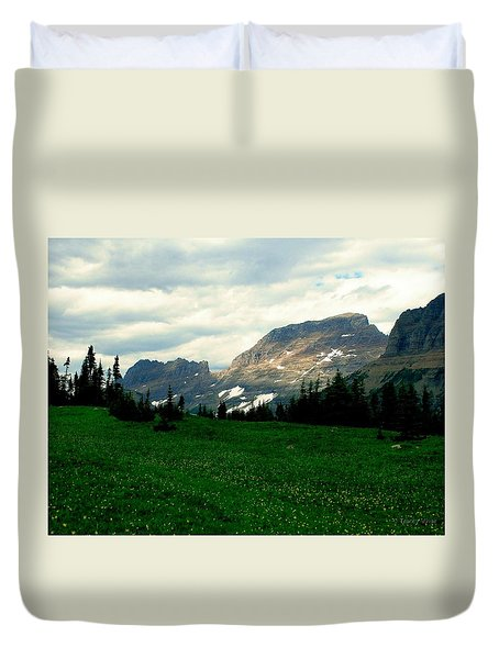 Logan's Pass Duvet Cover