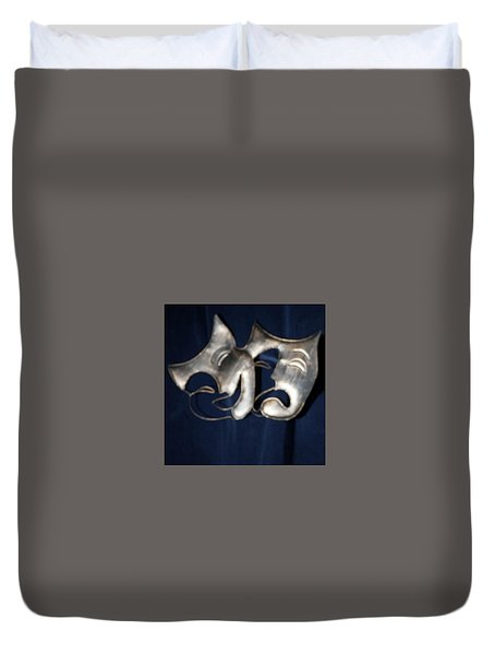 Logo For Theater Productions Duvet Cover