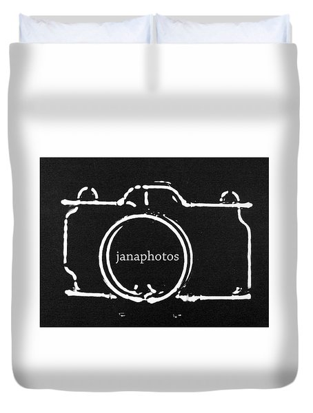 Duvet Cover featuring the digital art Logo by Jana Russon