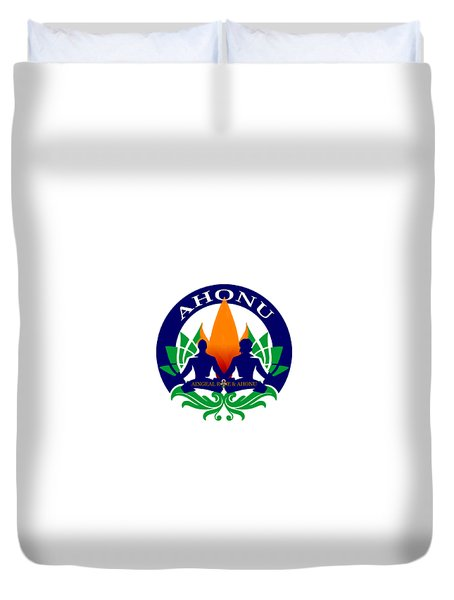 Logo Of Ahonu.com Duvet Cover