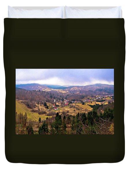 Lokve Valley In Gorski Kotar View Duvet Cover