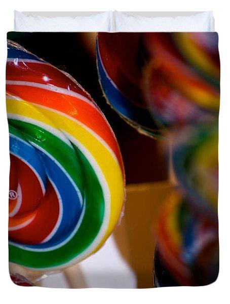 Lollipops Duvet Cover by Lisa Knechtel
