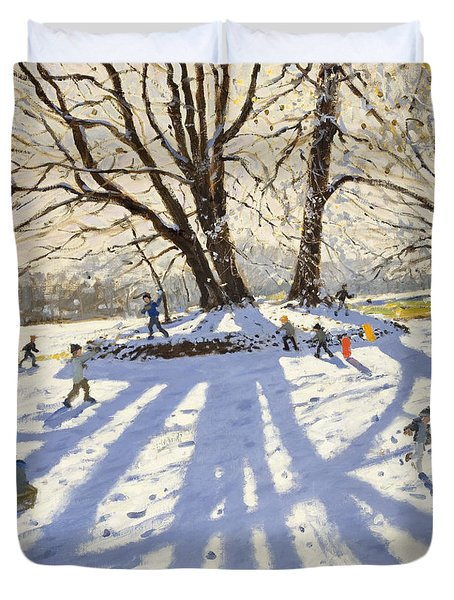 Lomberdale Hall Derbyshire  Duvet Cover by Andrew Macara
