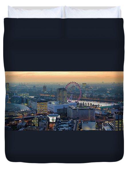 London At Sunset Duvet Cover